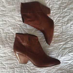 Frye leather ankle booties